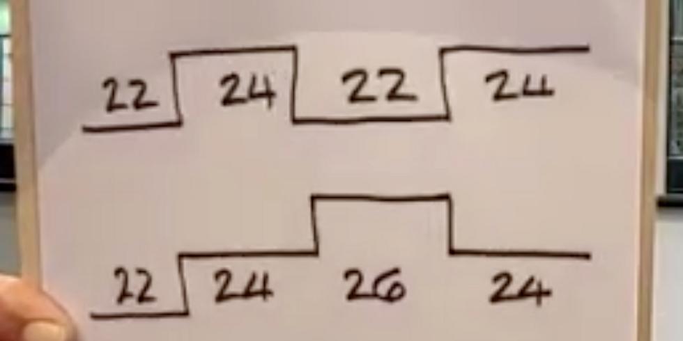 Row 4x8' at 22, 24 and 26 again with Matt Brittin