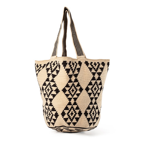 Beach Bag - Black + Ivory Collection 1