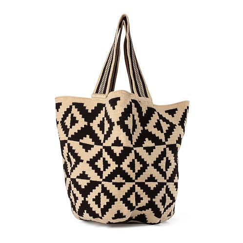 Beach Bag - Black + Ivory Collection 2