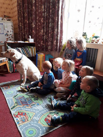 Lewis the guide dog came to visit us