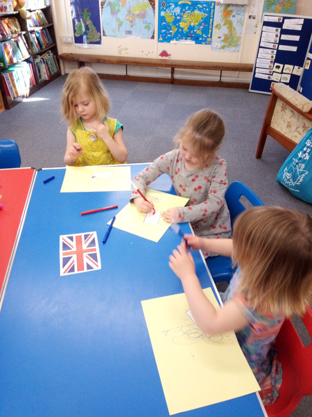Colouring the British flag