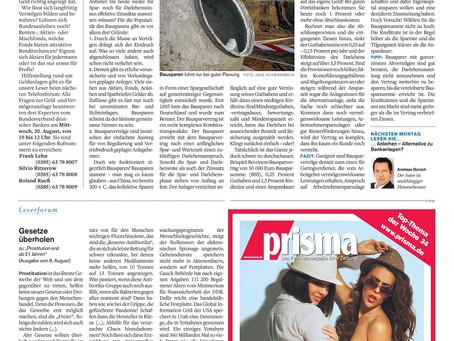 Deutschlands Liebling: Bausparen