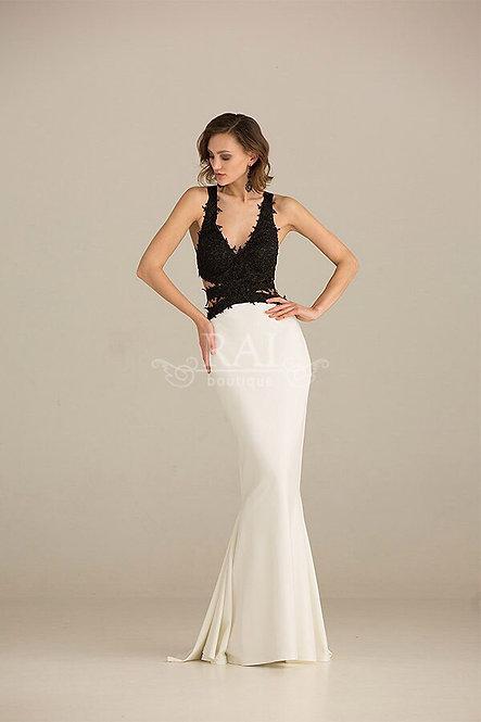 Чёрно-белое вечернее платье Boutique RAI