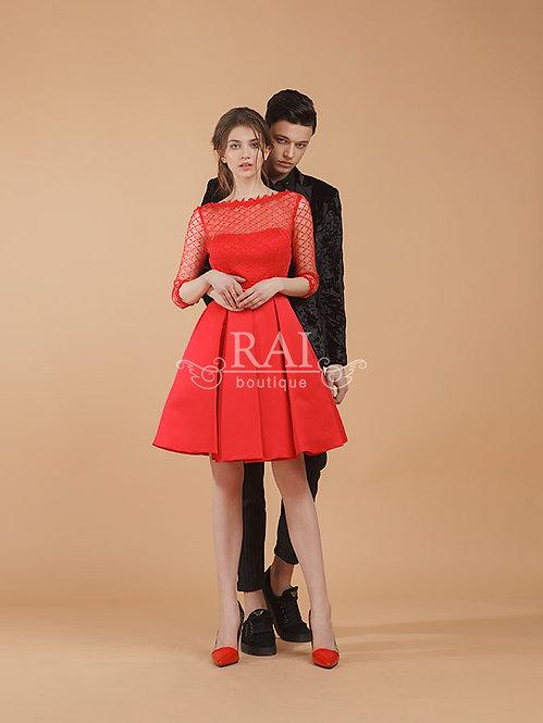 Красное коктейльное платье Boutique RAI