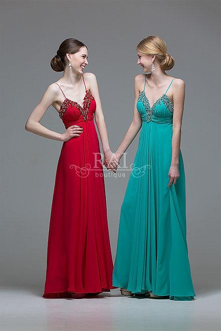 Красное, изумрудное вечернее платье Boutique RAI