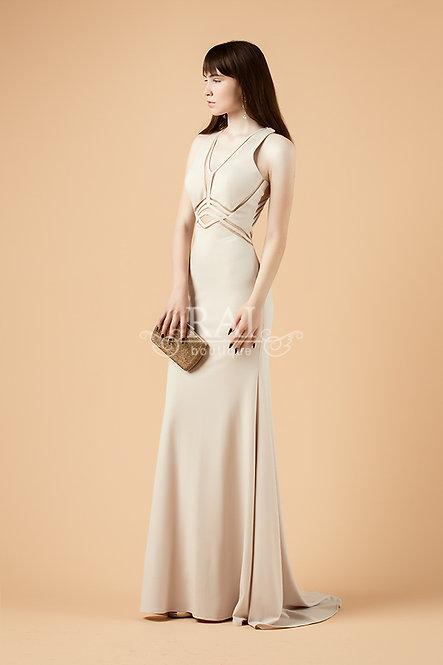 Бежевое вечернее платье Boutique RAI