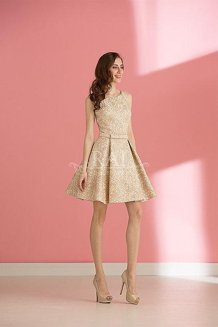 Золотое коктейльное платье Boutique RAI
