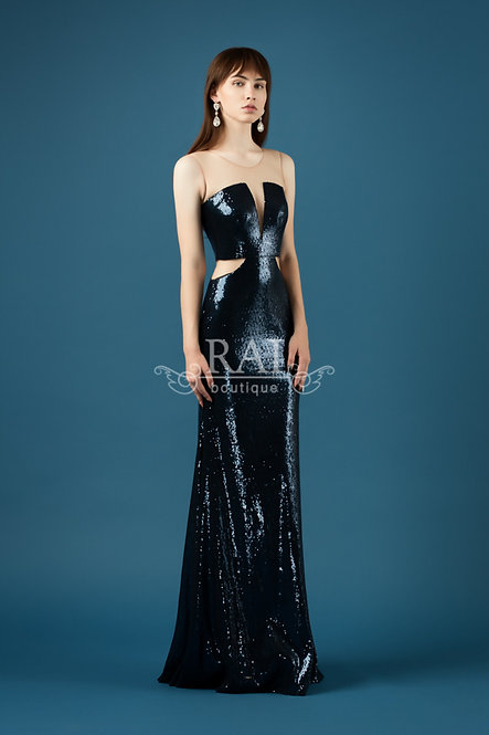 Тёмно-синее вечернее платье Boutique RAI