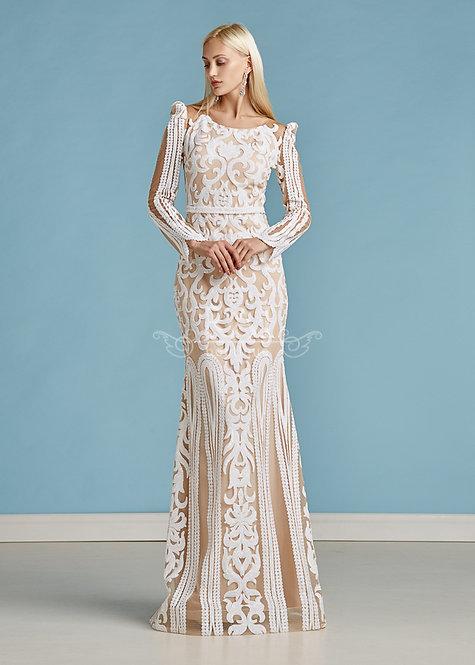 Кремовое вечернее платье Boutique RAI