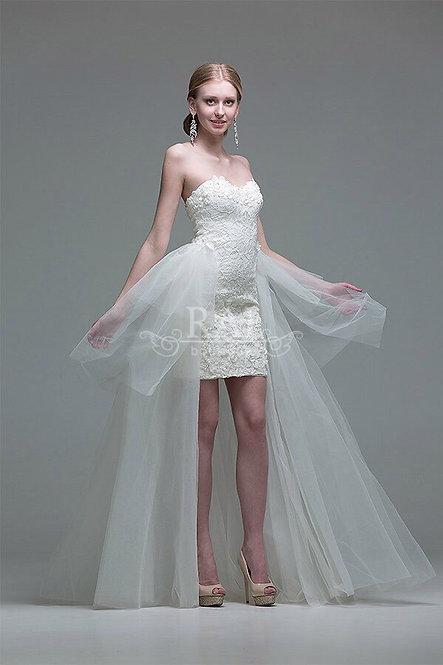 Белое коктейльное платье Boutique RAI