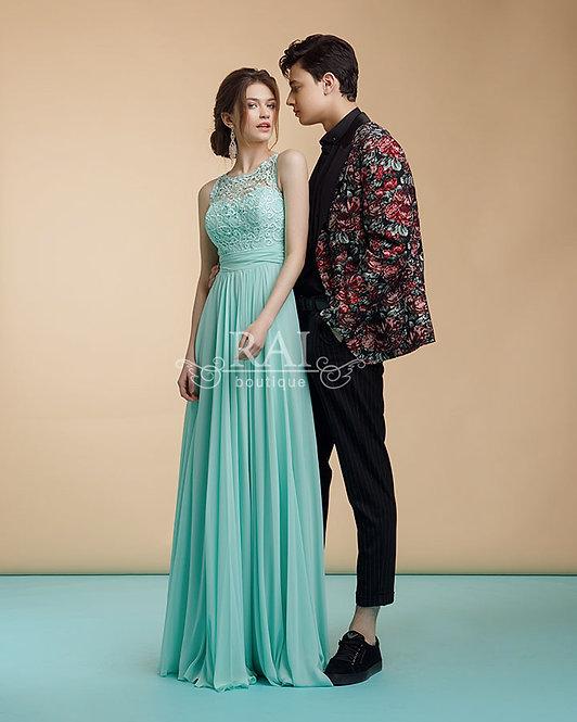 Мятное вечернее платье Boutique RAI