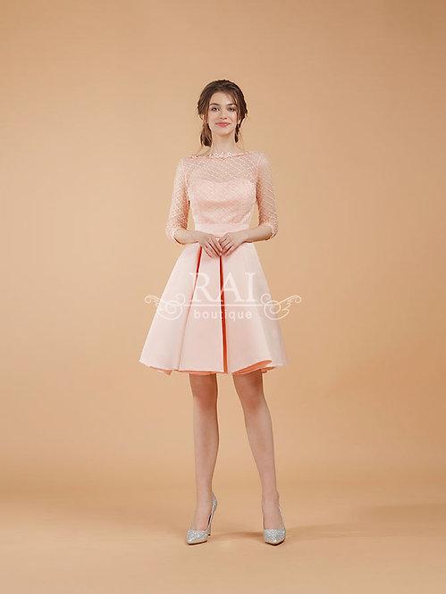 Пудровое коктейльное платье Boutique RAI
