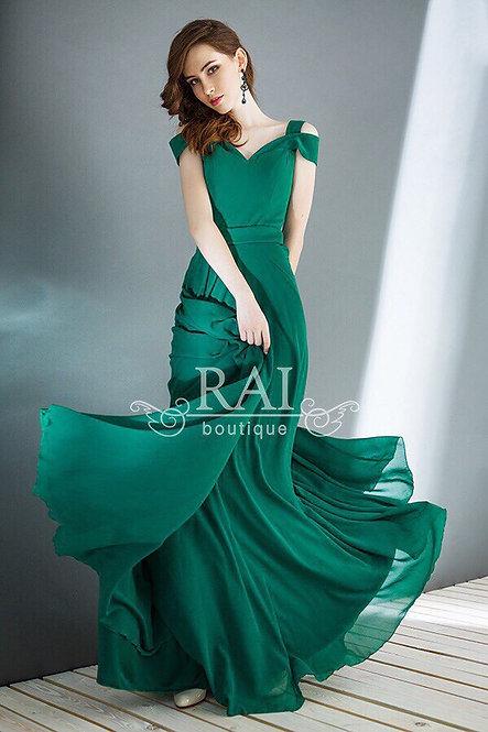 Изумрудное вечернее платье Boutique RAI