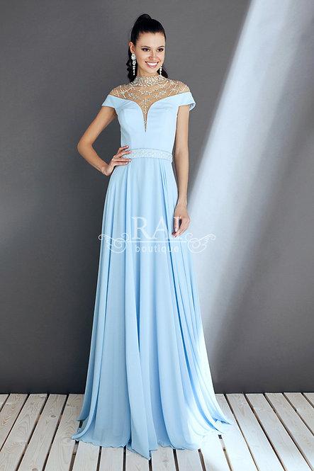 Светло-голубое вечернее платье Boutique RAI