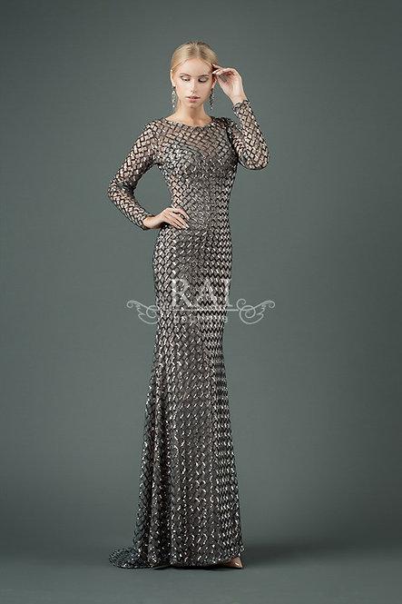 Серебряное вечернее платье Boutique RAI