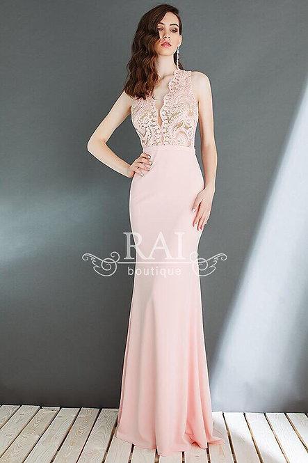 Розовое вечернее платье Boutique RAI