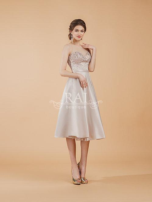 Бежевое коктейльное платье Boutique RAI