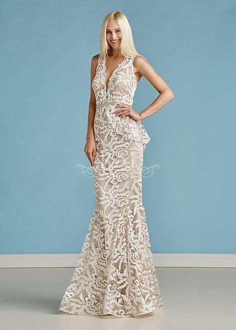 Белое вечернее платье Boutique RAI