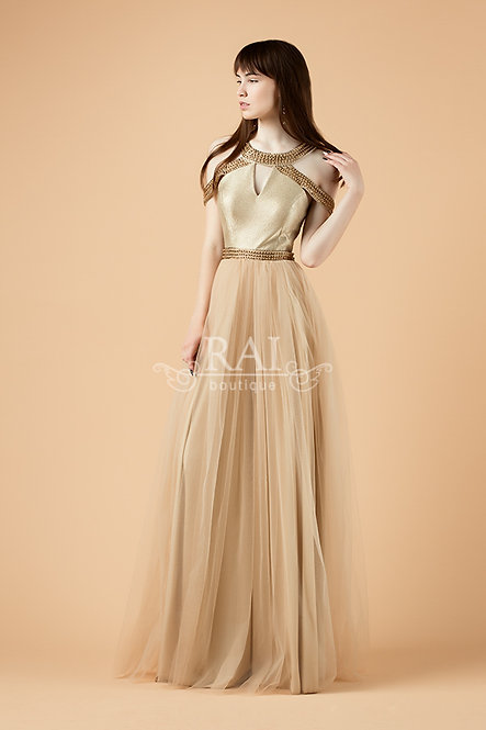 Золотое вечернее платье Boutique RAI Нижний Новгород