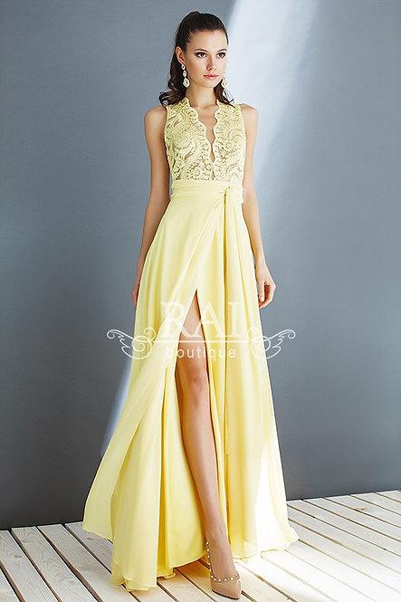 Жёлтое вечернее платье Boutique RAI