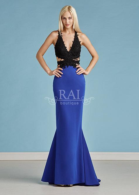 Чёрно-синее вечернее платье Boutique RAI