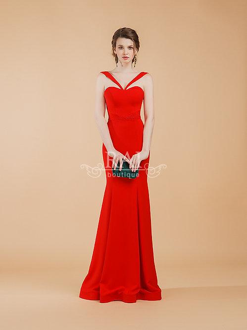 Красное вечернее платье Boutique RAI