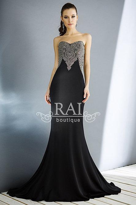 Чёрное вечернее платье Boutique RAI