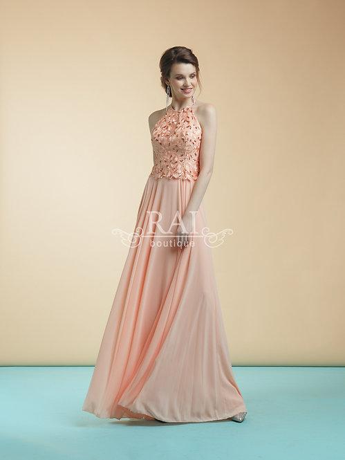Персиковое вечернее платье Boutique RAI