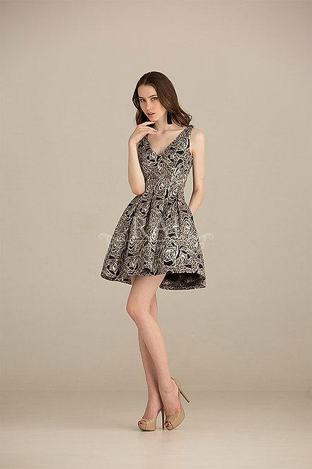Чёрное коктейльное платье Boutique RAI