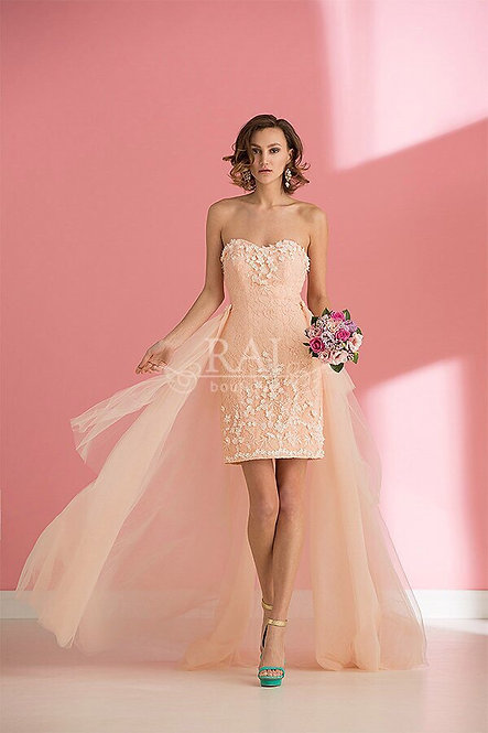 Персиковое коктейльное платье Boutique RAI