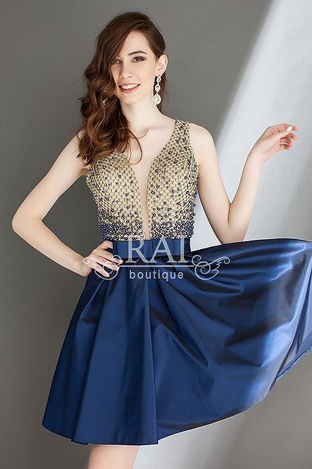 Тёмно-синее коктейльное платье Boutique RAI