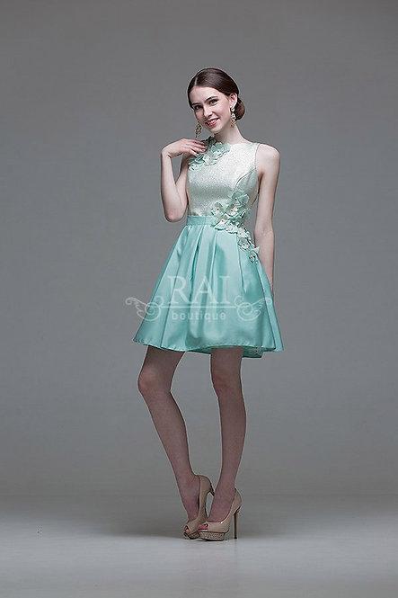 Мятное коктейльное платье Boutique RAI