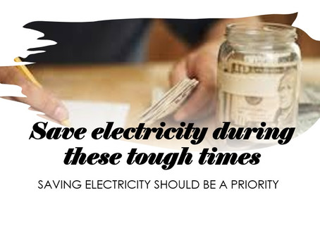 Saving electricity should be a priority