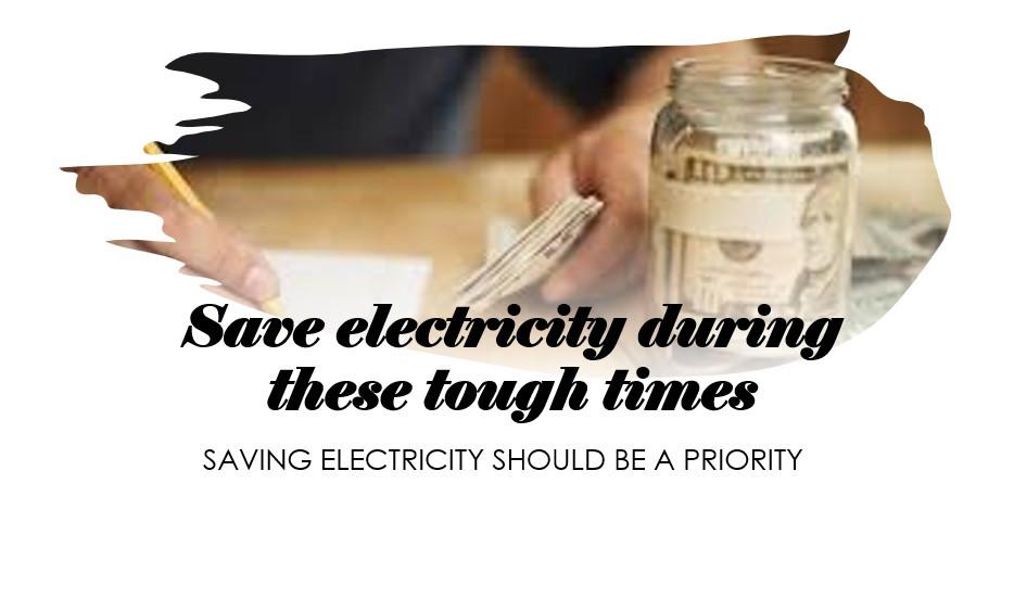 Saving electricity, better budget