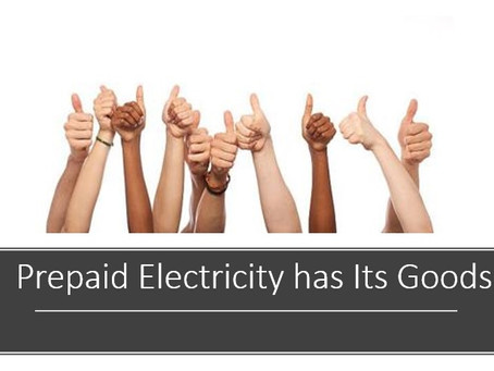 The good thing about prepaid electricity.