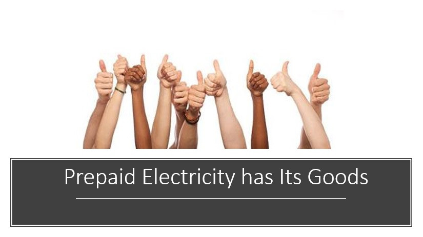 Image of thumbs up for prepaid electricity