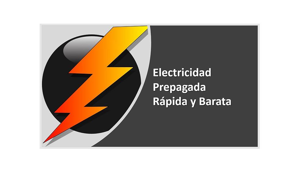 Image of a light and text Electricidad Prepagada Rápida y Barata
