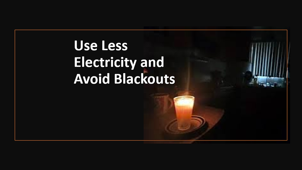 Save Electricity No Blackouts