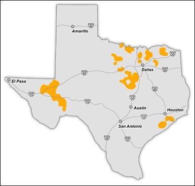 Texas New Mexico Power Electricity Service Area