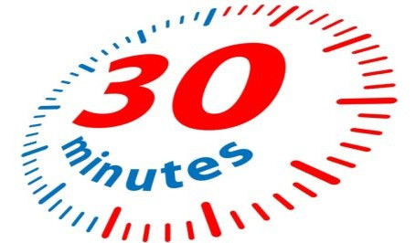 Image showing a clock 30 minutes