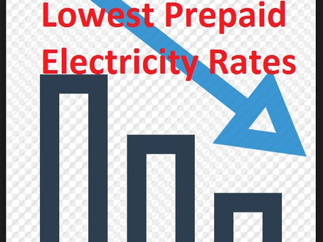 Lowest Prepaid Electricity Rates