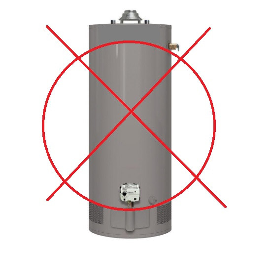 Image, no more water heaters, save on energy