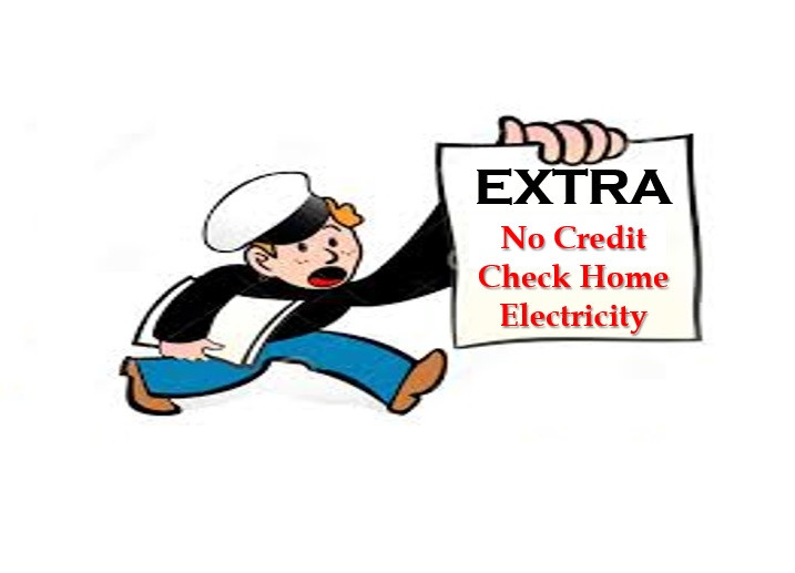 Newspaper boy saying, home electricity without a credit check