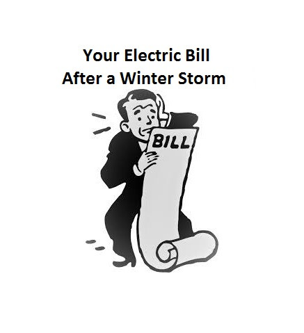 High electric bills after winter storms