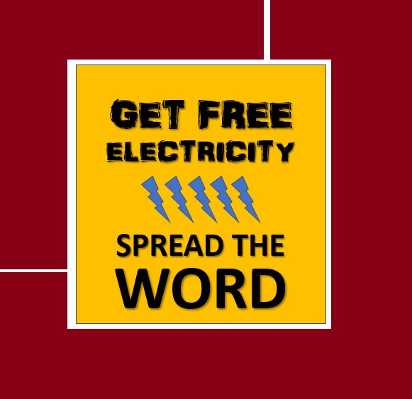 Free Residential Electricity Without Tricks