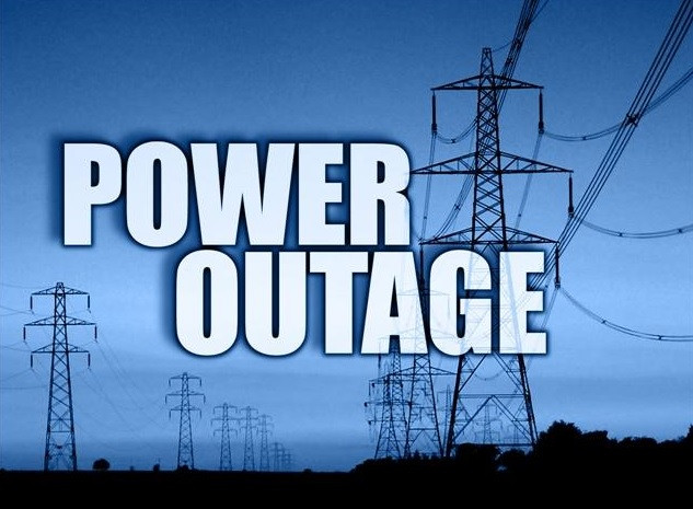Power lines with Power Outage text