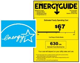 Image of an energy guide lable