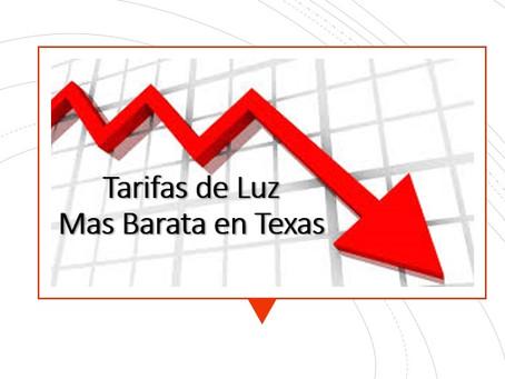 Tarifas de Luz Mas Barata en Texas