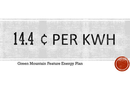 Green Mountain Energy Plan Revised