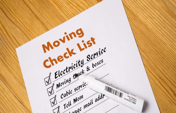 Check list, new home, new electric company